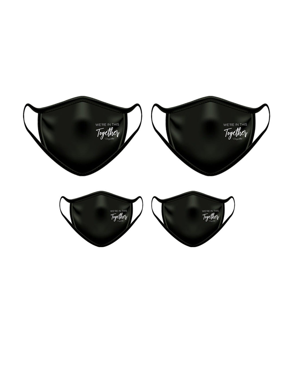 Face mask family 4 pack