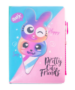 Diario de Portada Squishy Flufly friends