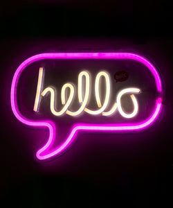Lámpara de pared Neon Hello