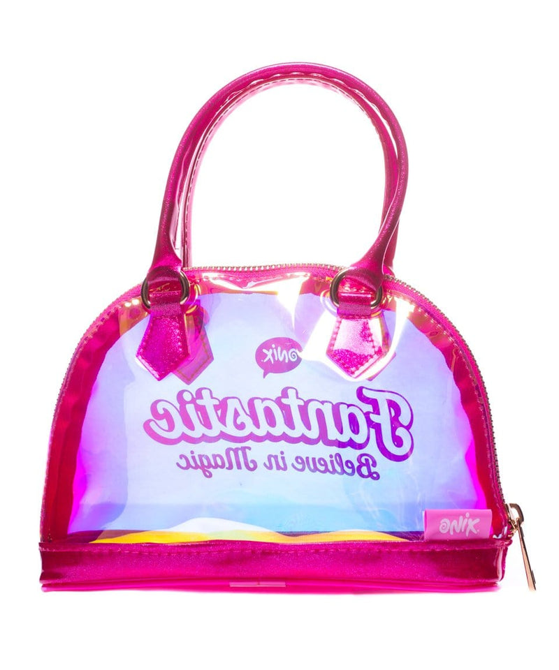 Bolsa Transparente Color Rosa