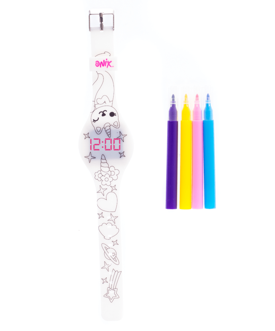 Reloj coloreable Mermaid