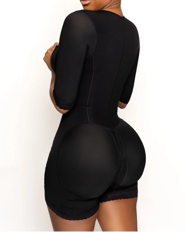 Full Shapewear Bodysuit with Half Sleeves