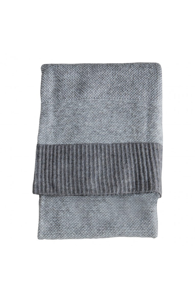 Two Tone Throw - Grey