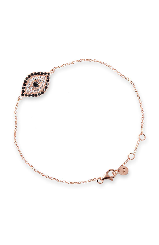 Evil Eye Bracelet - Rose Gold