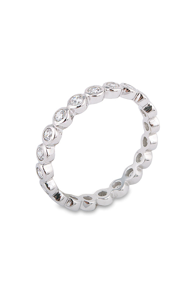 Bezel Eternity Ring - Silver
