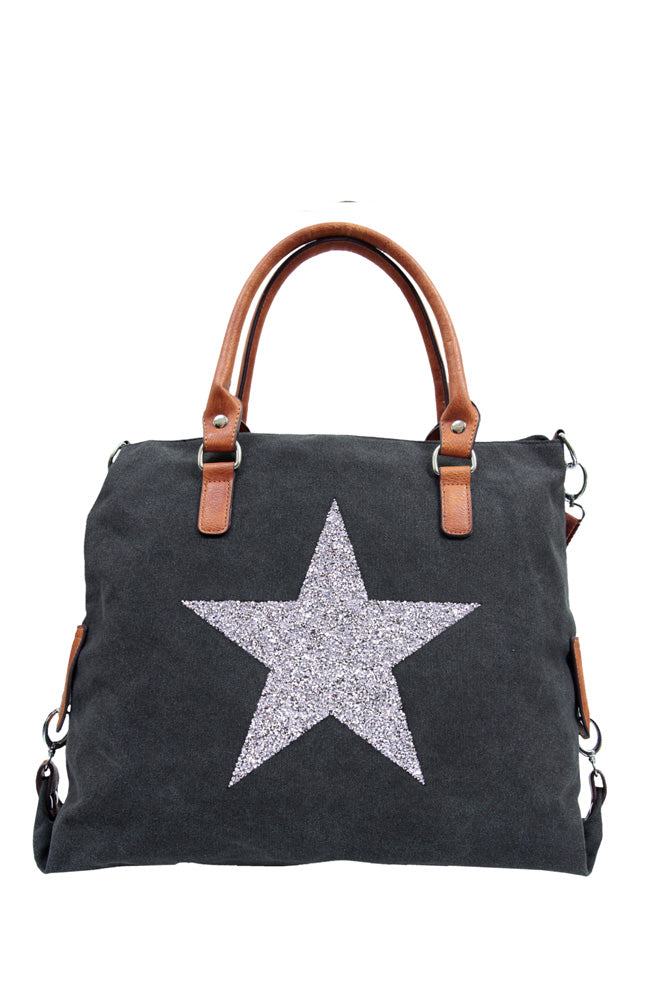 Star Power Canvas Bag - Black