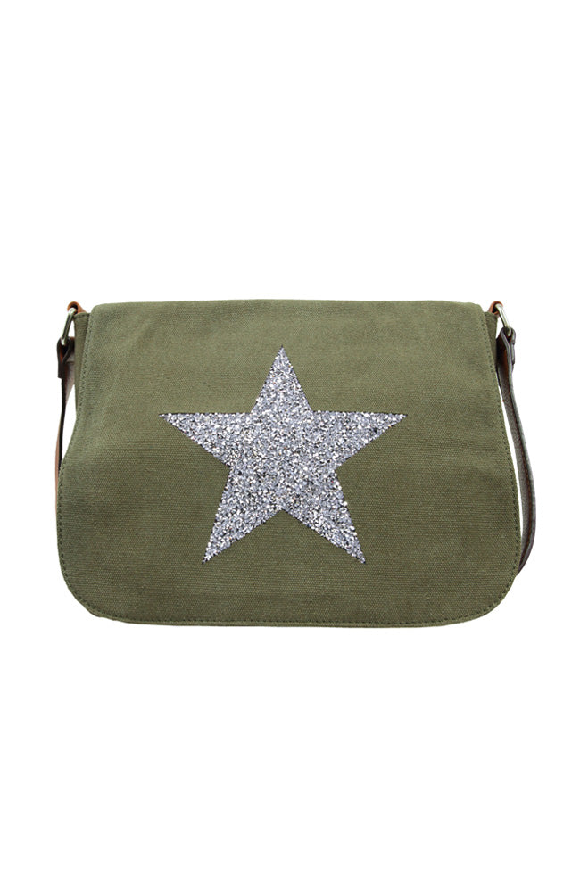 Star Power Canvas X Body Bag - Khaki