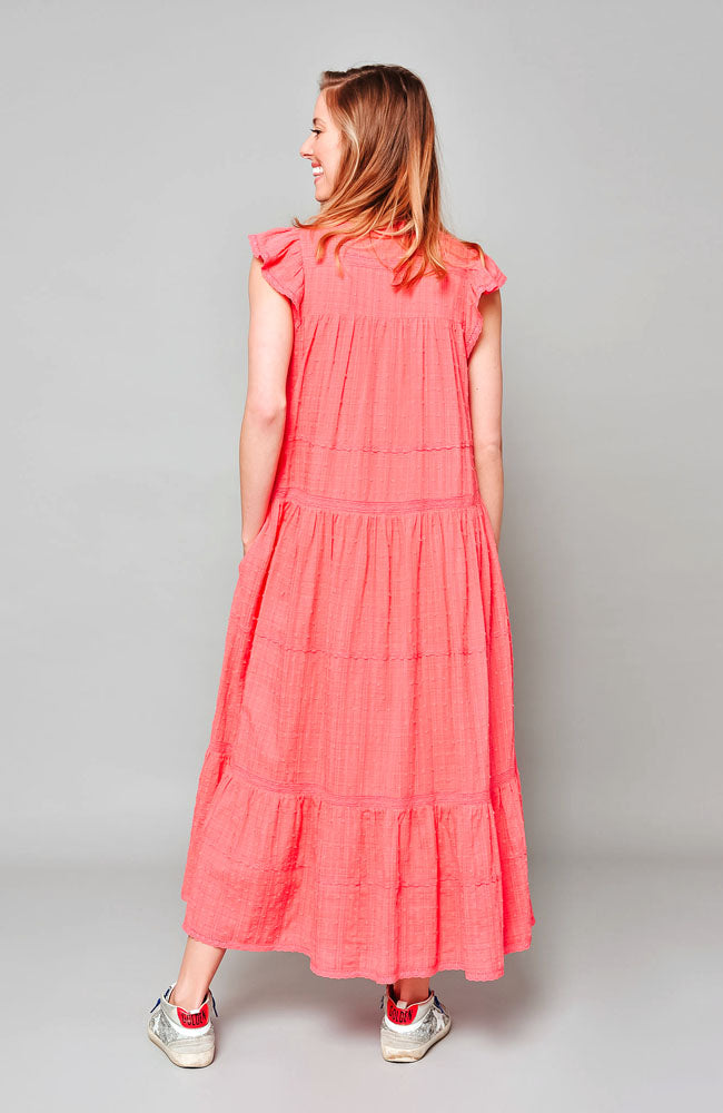 Amber Dress - Coral Pink