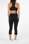 Sprint Crop Legging  - Black