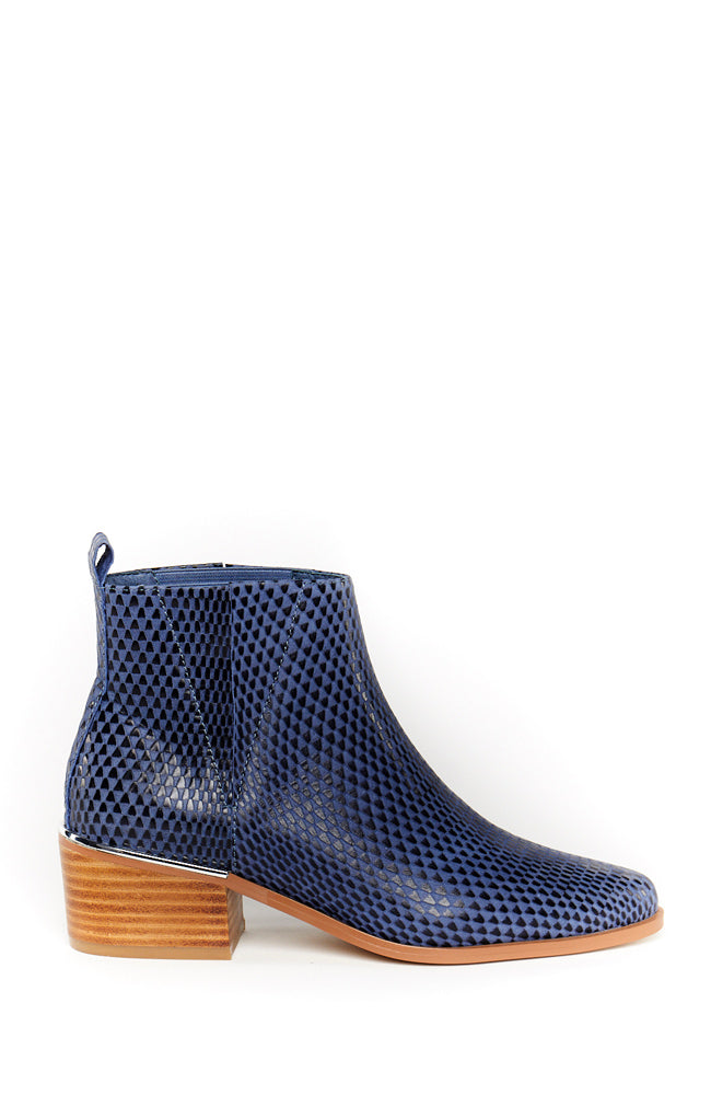 Belle Ankle Boot - Sky Lizard