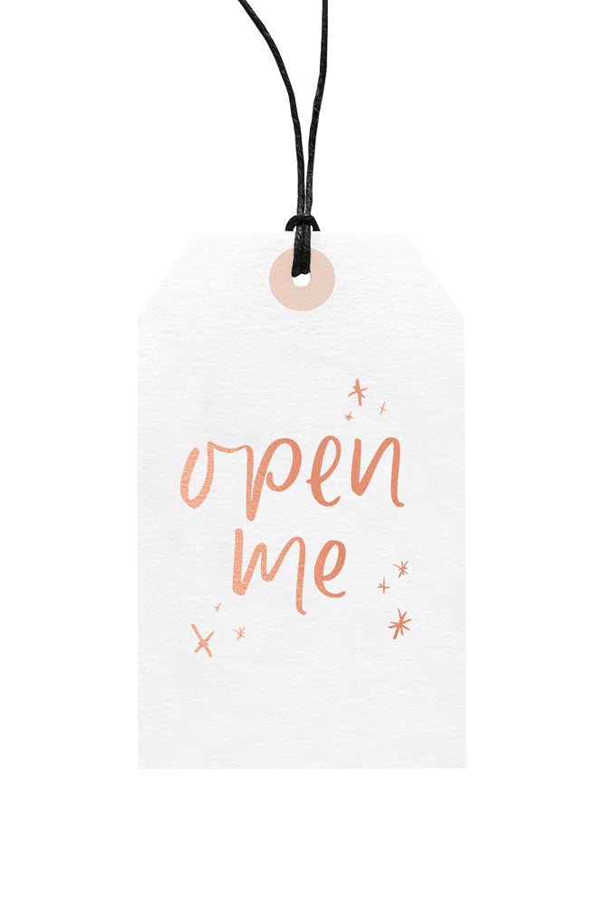 Christmas Open Me Gift Tag