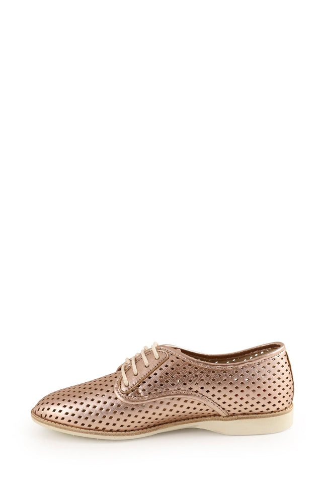 Derby Punch Flat - Rose Gold