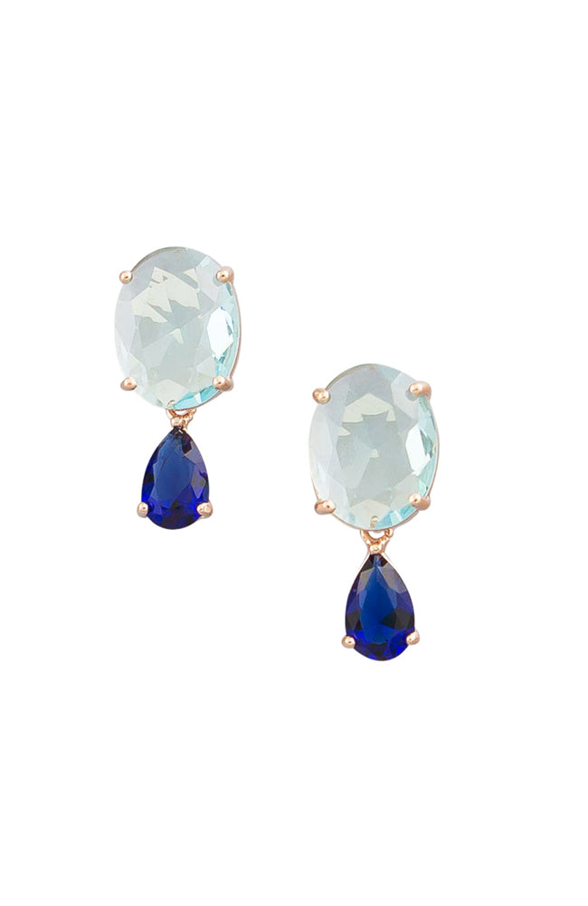 Aquamarine Crystal Drop Earring