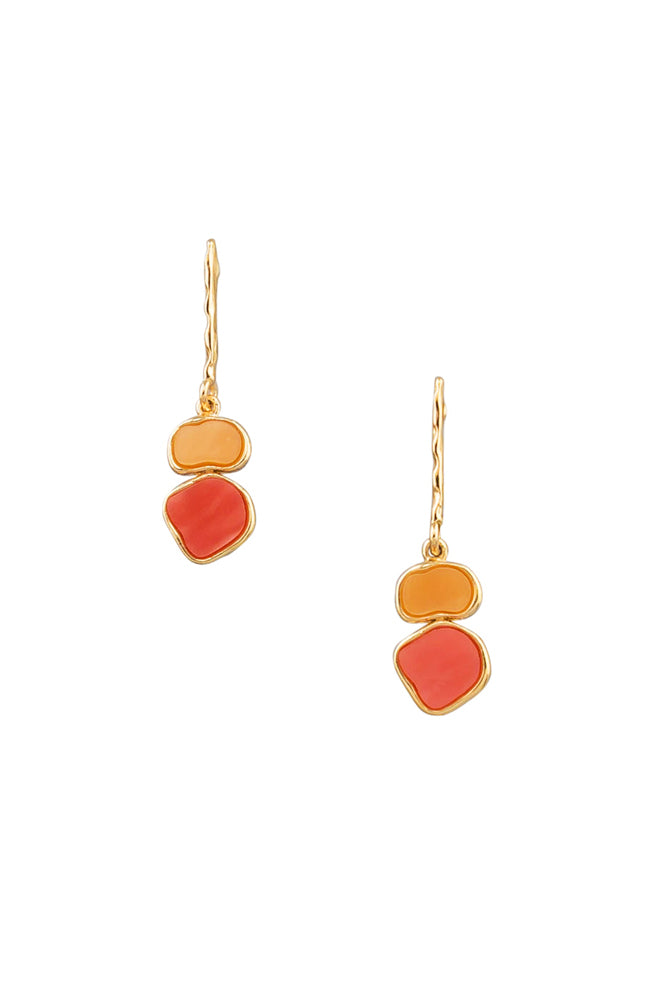 Art Drop Earrings - Orange