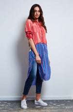 American Beauty Tunic I Red /Blue Stripe