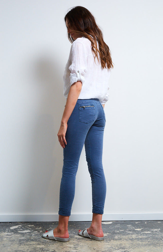Button Jean - Blue