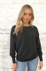 Batwing Knit - Charcoal