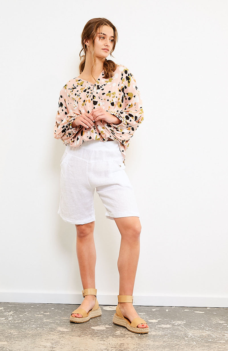 Resort Linen Short - White