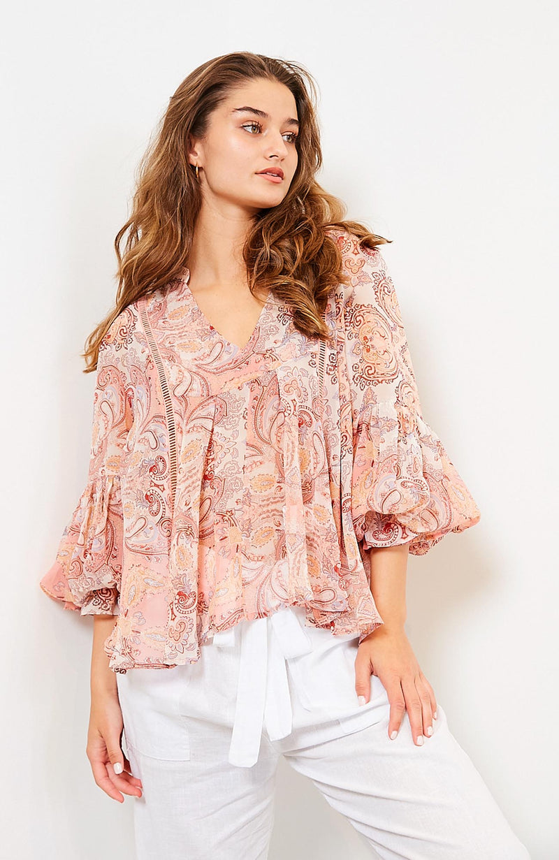 Paisley Spring Top