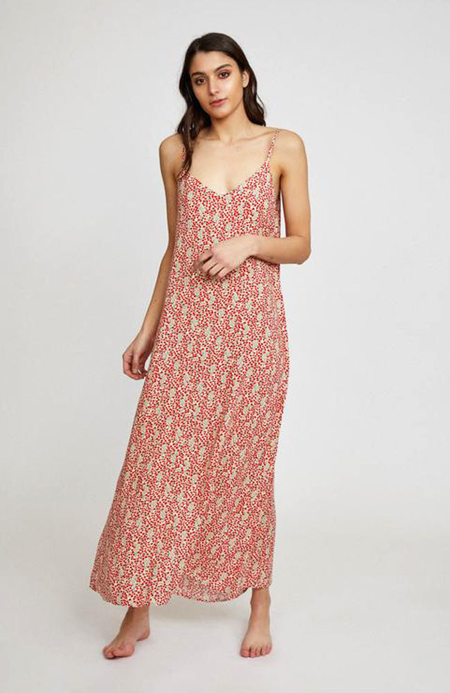 Stevie Slip Dress I Cherry