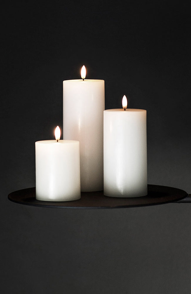 Flameless  Pillar Candle - Ivory