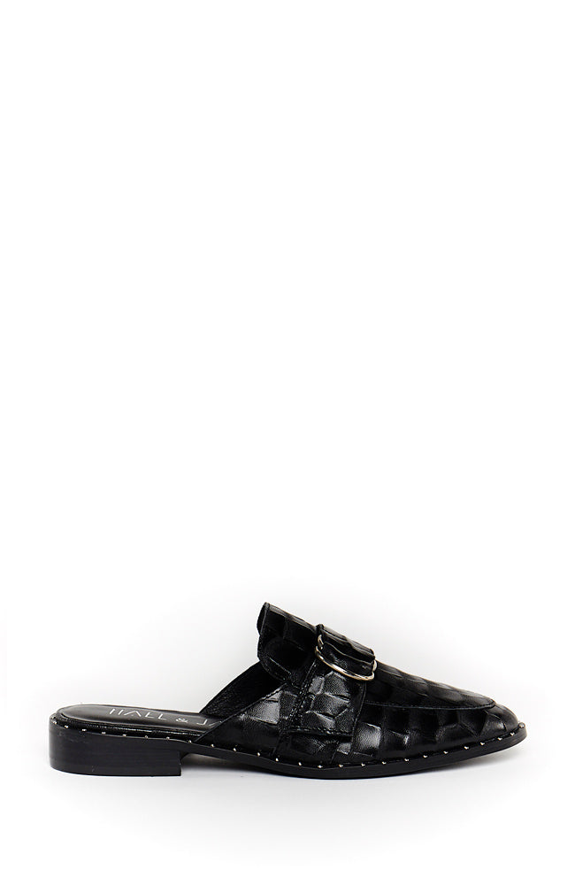 Warrior Loafer Slide - Black Croc
