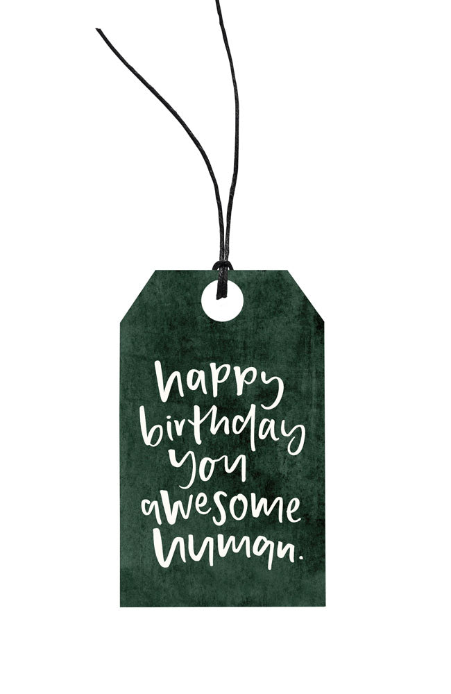 Happy Birthday Awesome Human Gift Tag