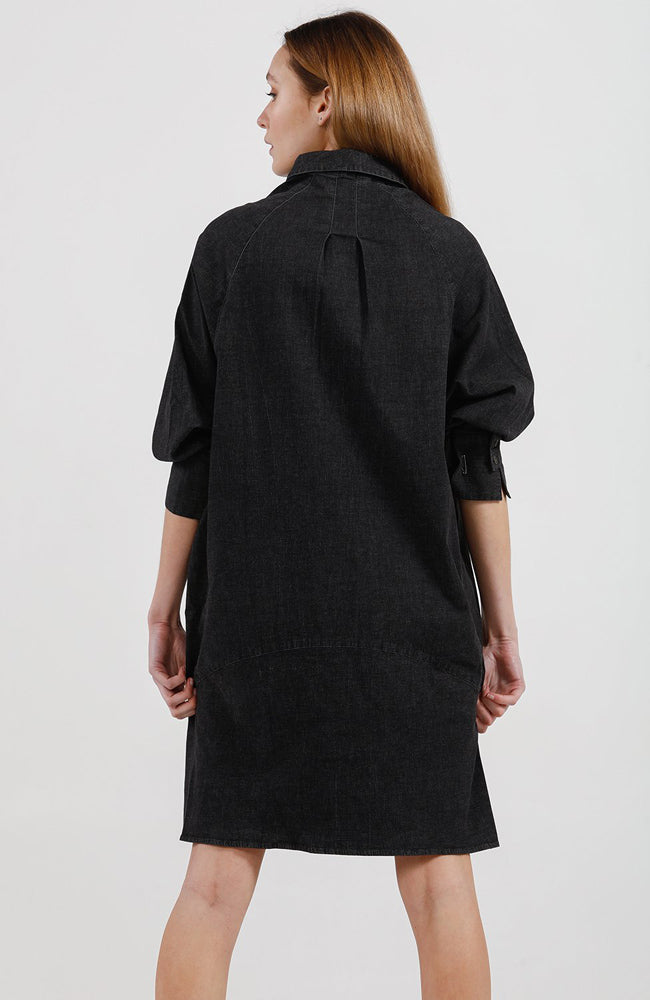 Cody Short Shirt Dress - Dark Denim
