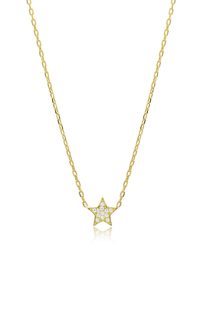 Cosmic Star Necklace I Gold