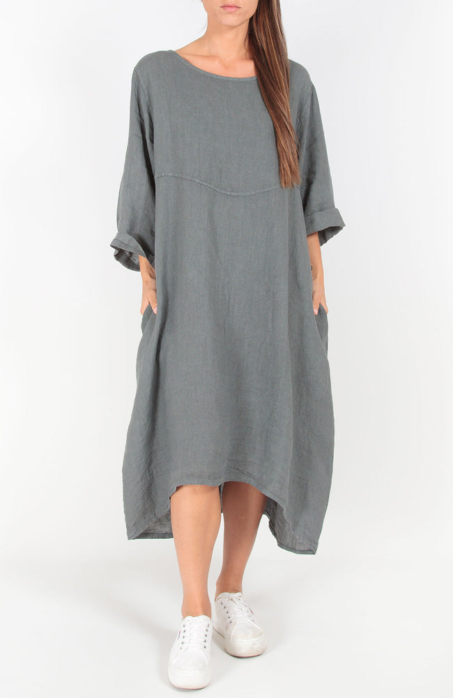 Down To Earth Dress I Charcoal
