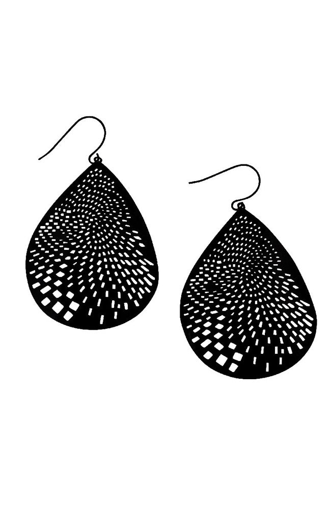 Curved Teardrop Earring