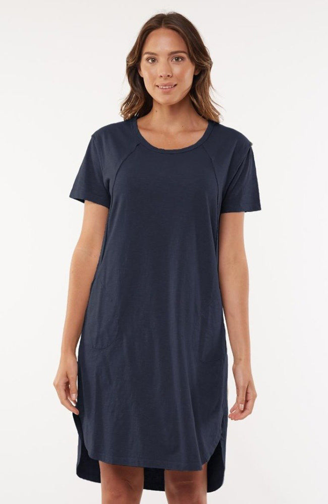 Mackenzie Short Sleeve Dress - Navy