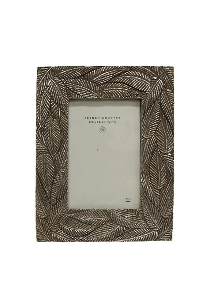 Lucia Palm Photo Frame Silver 4 x 6""