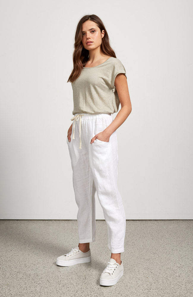 Luxe Pants I White