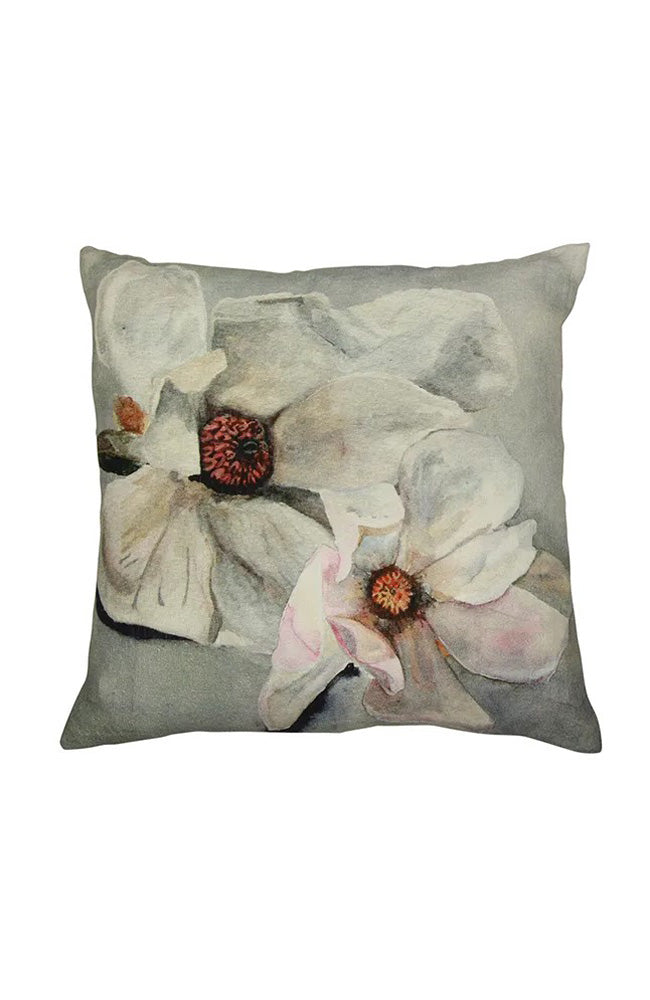 Magnolia Square Cushion I Light Blue