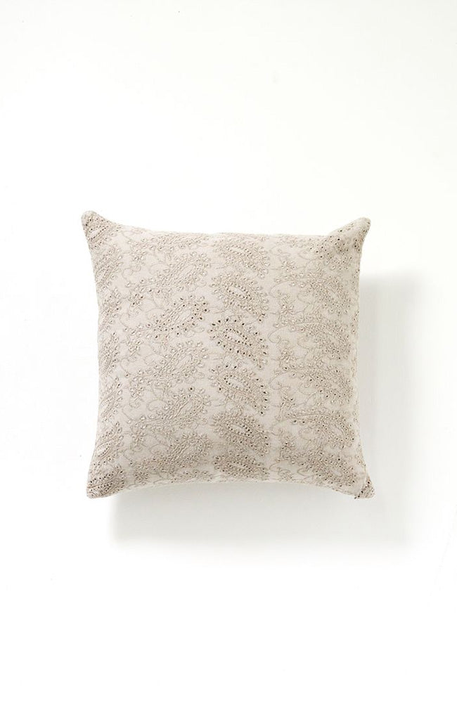 Martha Velvet Cushion - Grey