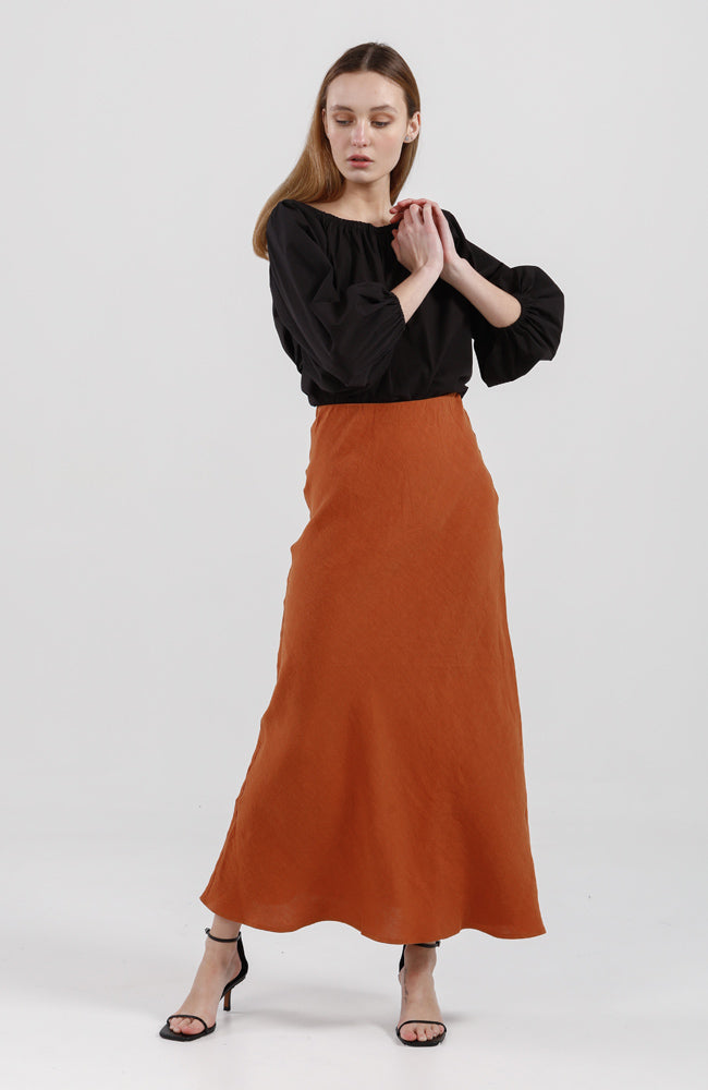 Ella Skirt - Rust