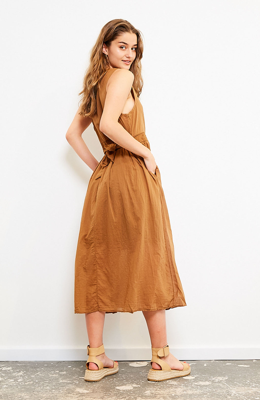Reece Cotton Dress I Mocha