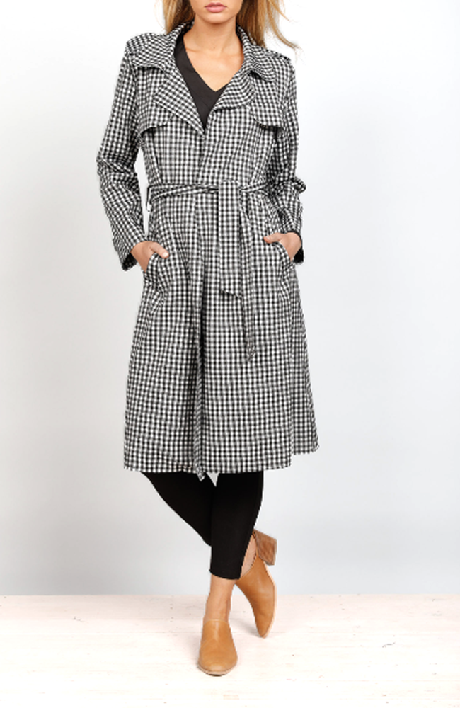 Trench Coat - Gingham