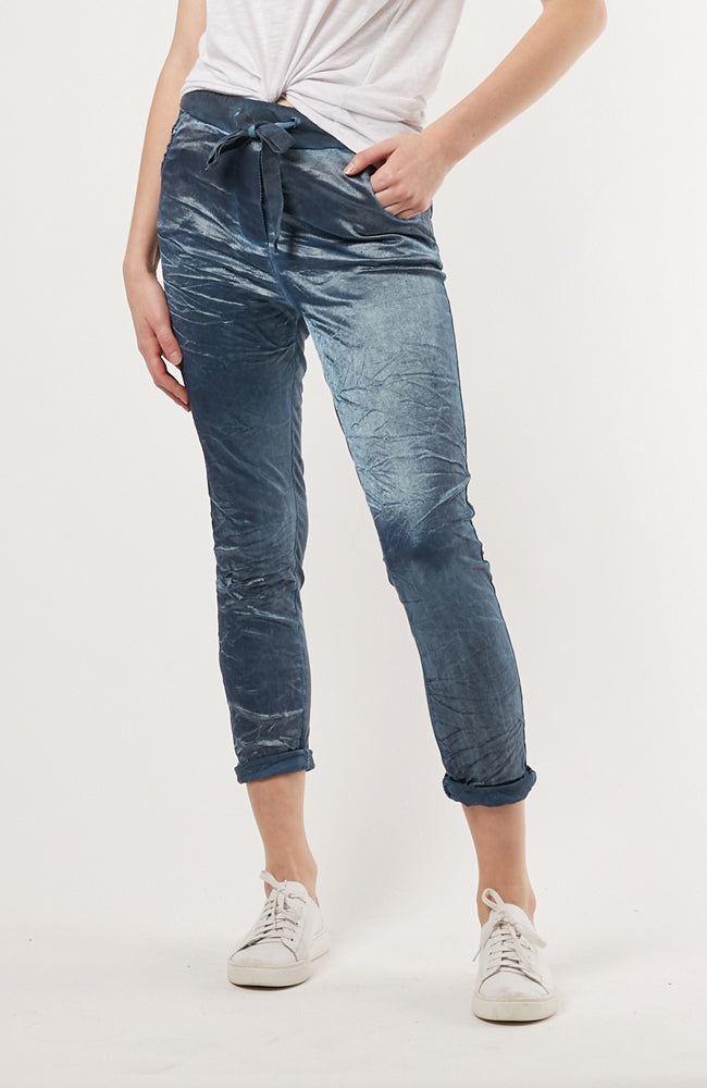 Sienna Pant | Metallic Blue