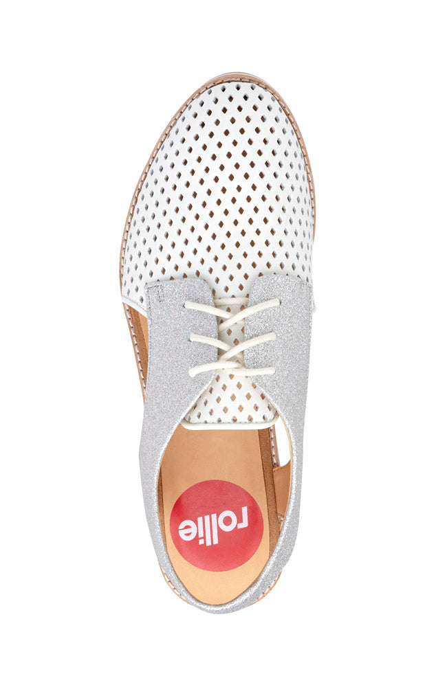 Slingback Punch - White / Silver