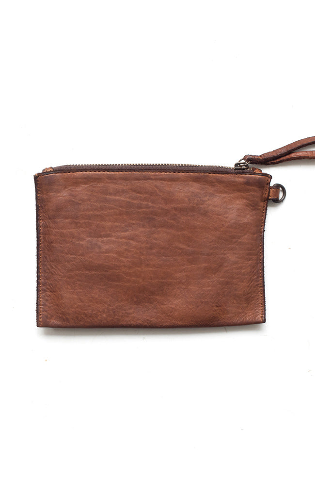 Small Pouch Clutch - Cognac