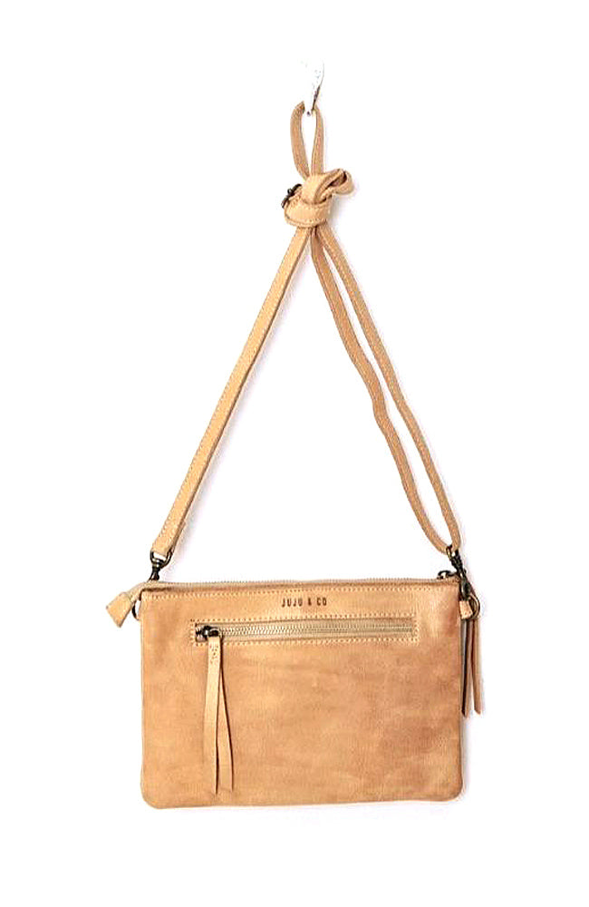 Small Perforated Shoulder Bag - Natural