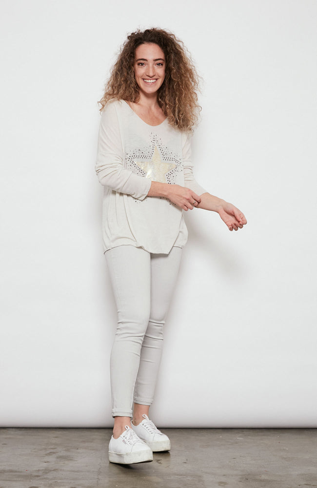 Cosmos Top  - Ivory