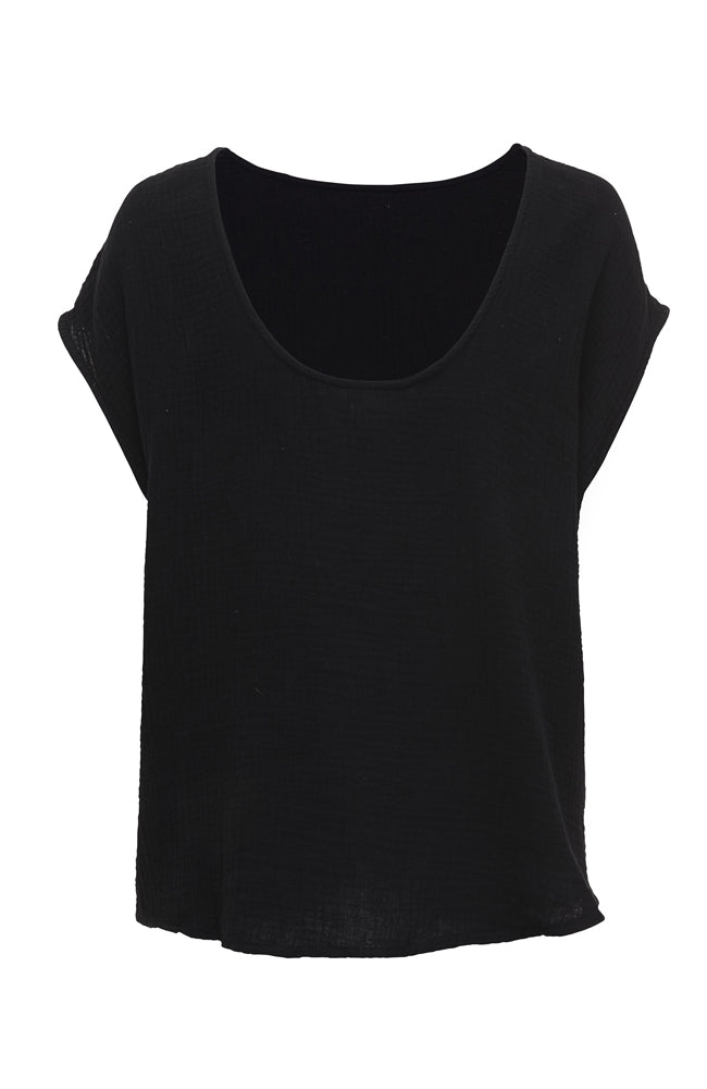 Two Sides Top I Black