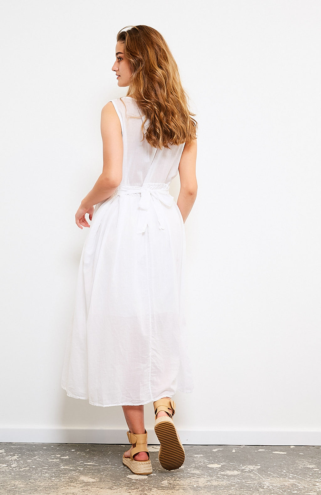 Reece Cotton Dress I White