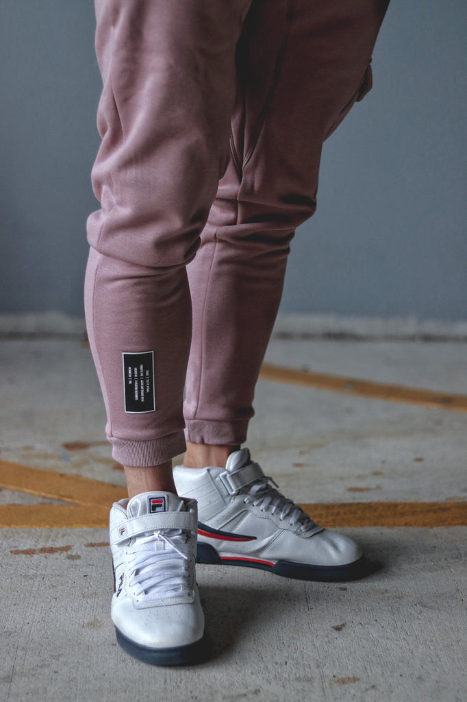 Size Up Rose-Punch Fleece Tech Joggers