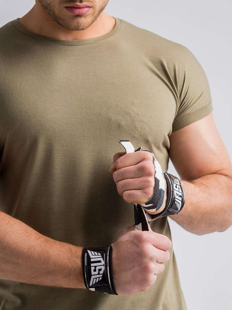Size Up Grey Camo Lifting Straps | Wrist Wraps for Lifting