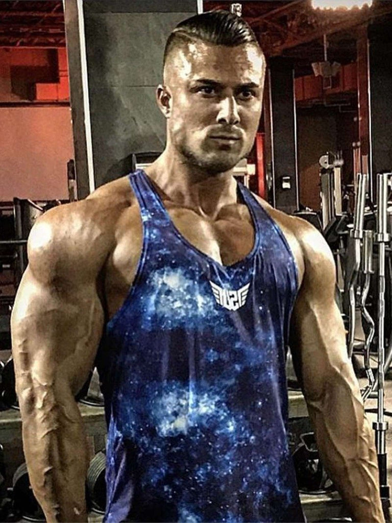 Size Up Galaxy Legacy Print Y-Back Tank 2