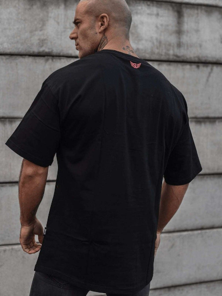 Size Up Jet Black Over-sized Tee 2